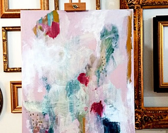 "original 18"" x 24"" abstract painting by Mary Kaiser"