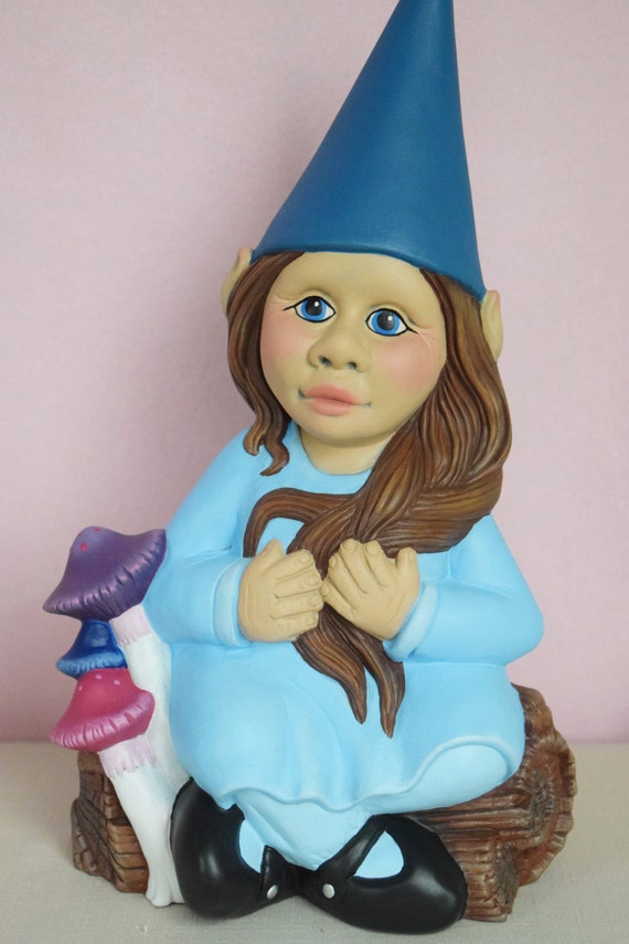 Girl Garden Gnome Yard Art Garden Decor Mothers Day Gift