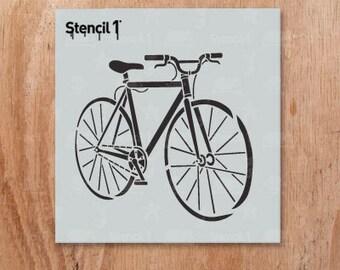 "Bike Fixed Gear Stencil- Reusable Craft & DIY Stencils- S1_01_207_S -Small-(5.75""x6"")- By Stencil1"