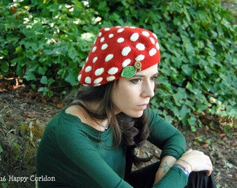 Crochet PATTERN - Amanita beret - children 5/10 - teenager/woman