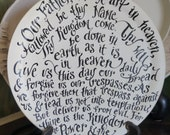 The Lord's Prayer wooden Plate - decoration - home - garden - spring - scripture