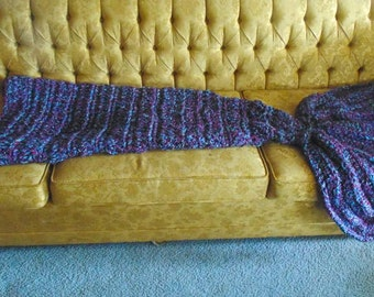Crochet mermaid tail blanket, toddler, child, teen, adult sizes available
