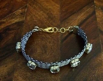 Chevron Herringbone Rhinestone Bracelet- JCrew inspired