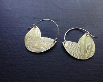 Brass Petal Earrings