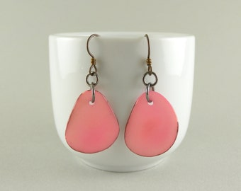 Bubblegum Pink Tagua Nut Eco Friendly Earrings with Free USA Shipping