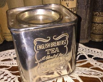 Vintage English Breakfast Tea Silver Tin