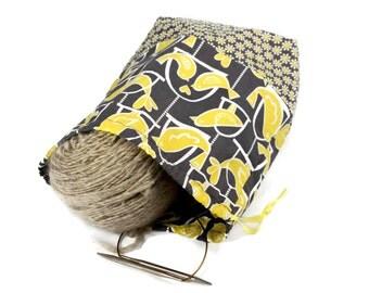 Knitting Project Bag, Crochet Project Bag, Knitting Tote Bag, Knitting Bag