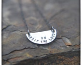Wait On The Lord half moon necklace