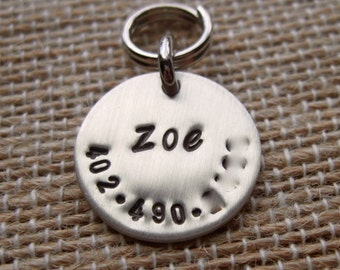 X-small Personalized Pet Tag - sterling silver