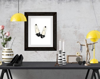 Chanel Flats Fashion Illustration Art Poster