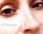 14K Rose Gold Filled Nose Ring / Free US Shipping