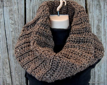 SALE Outlander Inspired Cowl chunky knit Brown womens cowl, outlander, sassenach claire starz , chunky cowl, Outlander Cowl, Outlander Scarf