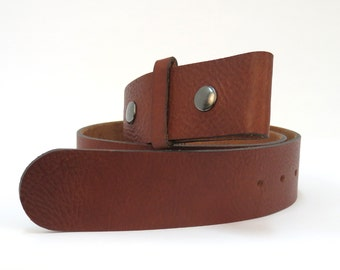 rusty brown double snap premium leather belt