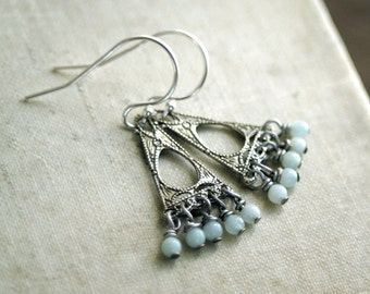Petite Amazonite Chandelier Earrings