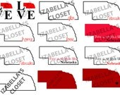 12 Nebraska Go Big Red Vector SVG  Printable Cutable