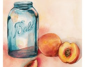 Canning Peaches Archival Print