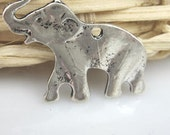 charms  Elephant Pendant jewelry supplies  quantity 6  detailed  (DRW500) African animal zoo circus