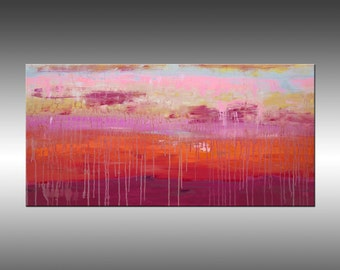 Lithosphere 153 - 24x48 Inches, Original Art Abstract Painting Large Canvas Wall Art, Modern Contemporary Art, Portland, Oregon