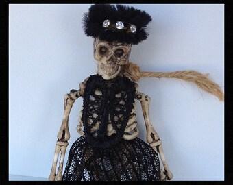 Halloween Decoration  Glam Skeleton  Halloween Ornament