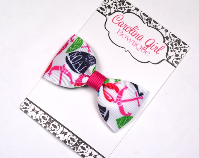 "Summer Classic ~ 3"" Hair Bow Tuxedo Bow ~ Lilly Inspired ~ Simple Bow ~ Boutique Bow for Babies Toddlers ~ Girls Hair Bows"