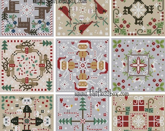 Christmas Biscornu Cross Stitch Pack