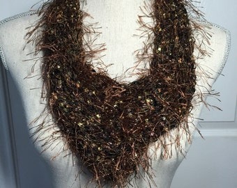 Bandana Scarf in Brown and Black