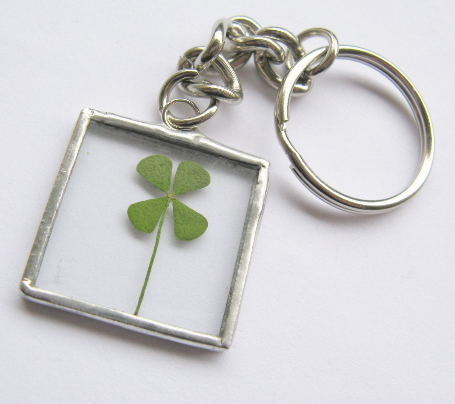 four leaf clover keychain keychain stocking stuffers