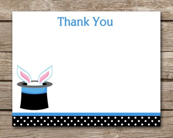 PRINTABLE Magic Birthday Party Thank You Cards, Magic Party Thank You, INSTANT DOWNLOAD