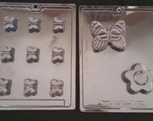 LARGE or SMALL BUTTERFLY Butterflies Soap Mold Flower Bath Melt And Pour Glycerin Kids Girls Childrens Chocolate Bar Candy Making Lotion