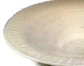 Ceramic Bowl  - Soft White (3 1/2 cups) - Centerpiece Bowl - Handmade Art Vessels - Art Pottery - Ready to Ship