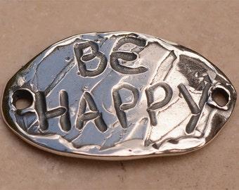 Be Happy Bracelet Link in Sterling Silver, 362d