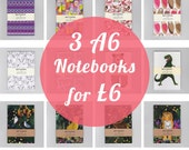 Offer! Pack of Three Mini Notebooks, choose from your favourite designs