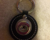 10 Very nice button snap key chain black