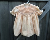 Peach Smocked Dress 2/3T
