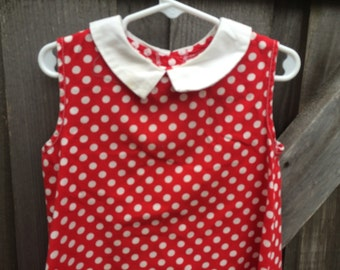 60s Polka Dot Dress 3/4T