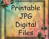 10 Printable JPG Digital Downloads-Great Buy- 10 for 12.00 -QUaLITY Printable Collage Sheets-Great Assortment -Lovely Vintage Art