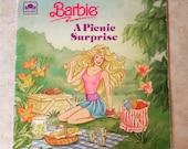 PIF BARBIE A Picnic Surprise A Little Golden Book 1990 Paperback Features Ken and Skipper