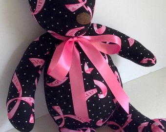Handmade Breast Cancer Awareness Teddy Bear