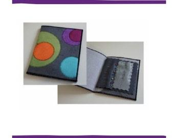 "stitching in circles needlebook kit 5"" x 7"""