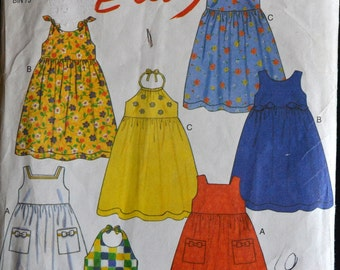 Sewing Pattern New Look 6769 Girls' Dresses Size 3-8 Complete UNCUT