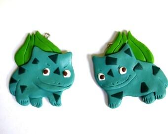 Bulbasaur - Pokemon Go! dangly earrings