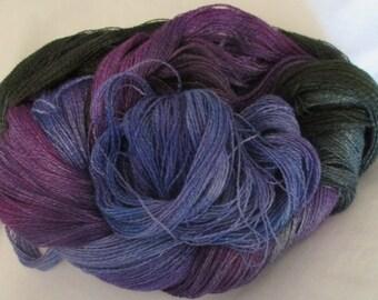 Hand dyed Tencel Yarn - 900 yds. Lace Wt. Tencel Yarn  VISIONARY