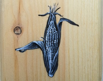 SALE 365 Day Challenge Painting #39 - The Chalkboard Corn