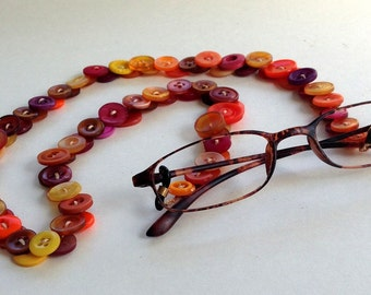 Vintage Button Eyeglasses Chain