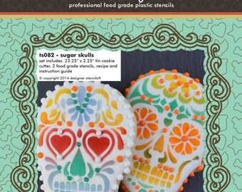 Sugar Skulls Stencils and Tin Cutter Set - Designer Stencils (TS082)