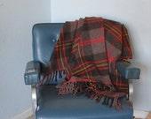 Vintage Faribo Wool Throw Blanket - stadium, afghan, picnic blanket