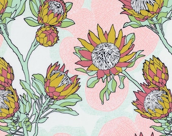 Cali Mod Protea in Cactus - Cali Mod Collection by Joel Dewberry FreeSpirit Fabrics - starting at a quarter yard, cut continuously