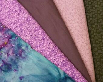 VINTAGE QUILT FABRIC Coordinated Set Over 12 Yards Cotton Bundle oop Purple Aqua Black Free Shipping