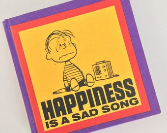 Vintage 1967 Happiness is a Sad Song Peanuts Gang Snoopy Book
