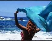 Belly dance costume silk veil blended